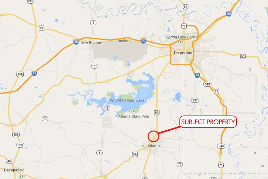 Map Of Interstate 69 In Texas.Interstate 69 Highway 59 Frontage Atlanta Texas Reynolds