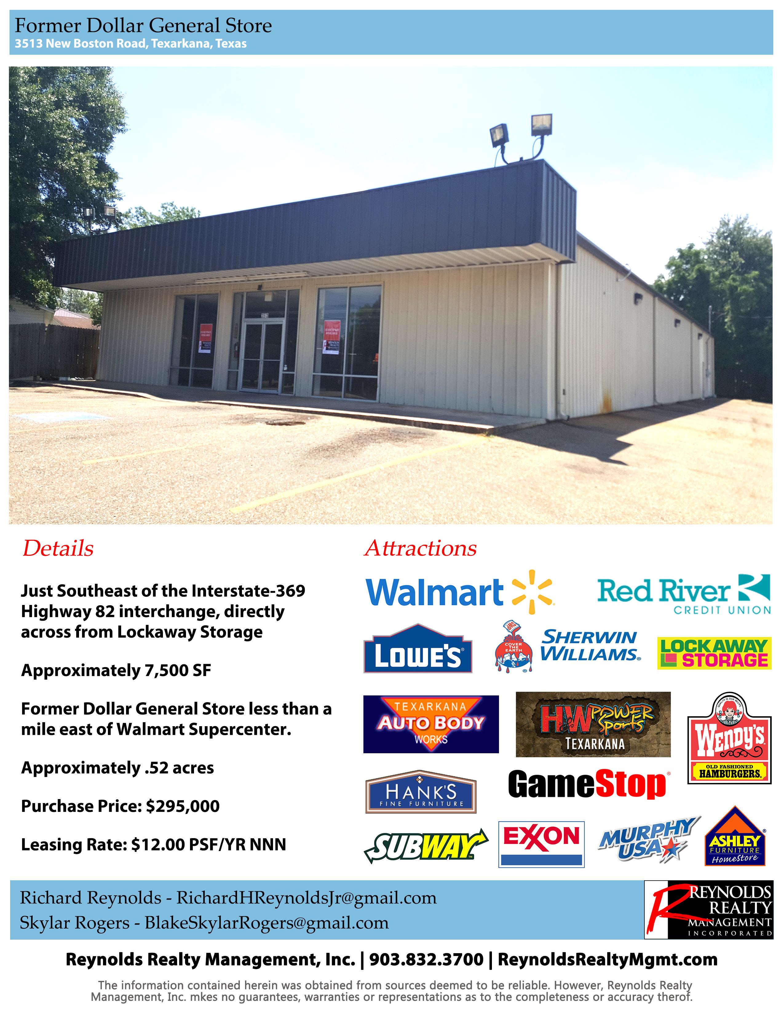 Former Dollar General, 3513 New Boston Road, Texarkana, TX ...